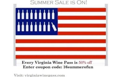 The Virginia Wine Pass is 50% off