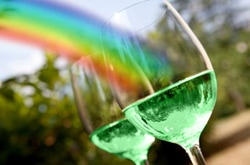 Nothing Says St. Patty's Day Like Green Wine